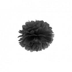 Pompon bibułowy czarny 25cm