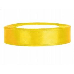 Taśma satynowa żółta 12mm x...
