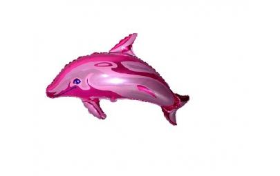 Balon 24 delfin duży różowy...