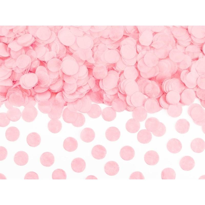 Konfetti kółka bibułowe 1,6cm jasny różowy 15g