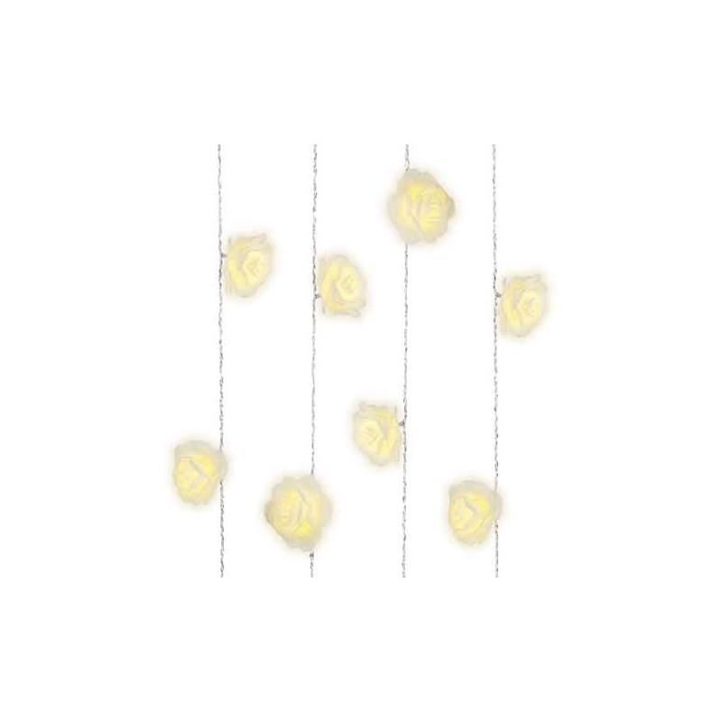 Lampki róże 20 led wewnętrzne ciepły biały 380cm