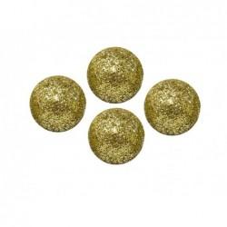 Dekoracje brokatowe kula złota 2cm 25szt