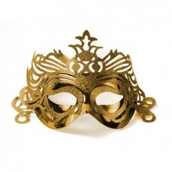 Maska party z ornamentem złota