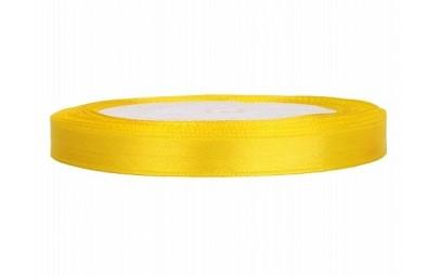 Taśma satynowa żółta 6mm x 25m