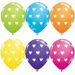 Balon 11 big hearts mix...