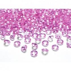 Konfetti diamentowe różowe...