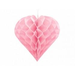 Serce bibułowe 30cm jasny...