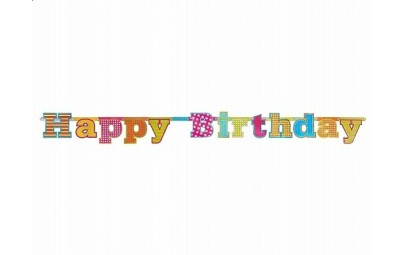 Baner Happy Birthday 16x166cm