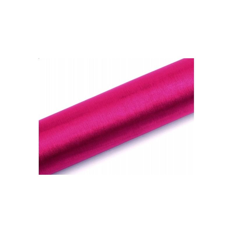 Organza gładka ciemny różowy 0,16 x 9m