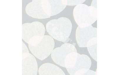 Konfetti serca białe 55mm