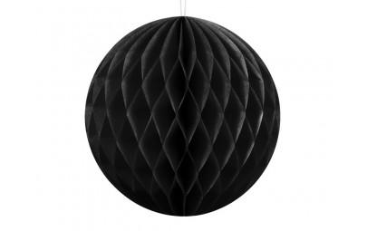 Kula bibułowa czarna 10cm