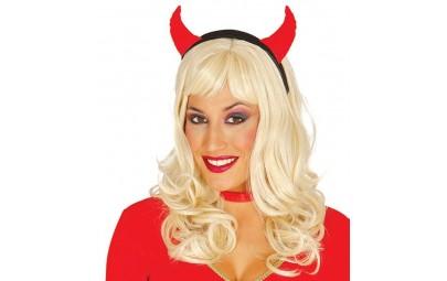 Opaska rogi diablicy czerwone