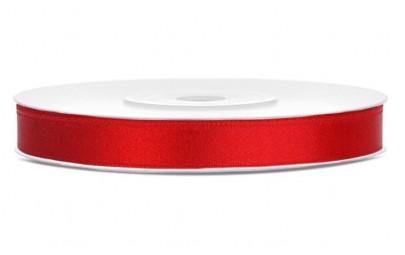 Taśma satynowa czerwona 6mm...