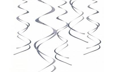 Świderki wiszące srebrne 60cm