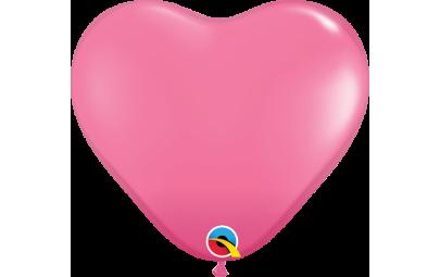 Balon 11 serce ciemny róż...