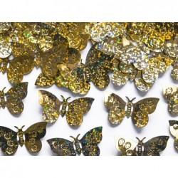 Konfetti holograficzne motyle złote