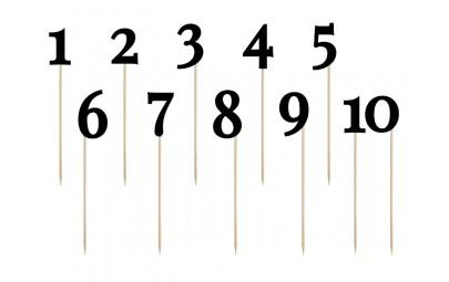 Numery na stół 1-10 czarne...