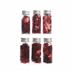 Konfetti metaliczne czerwone w butelce 3,7x9cm