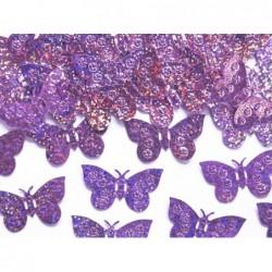 Konfetti holograficzne motyle jasny różowy