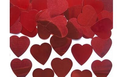 Konfetti serca czerwone...