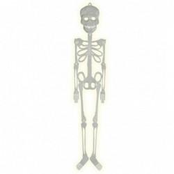 Szkielet fluorescencyjny plastikowy 75cm na Halloween