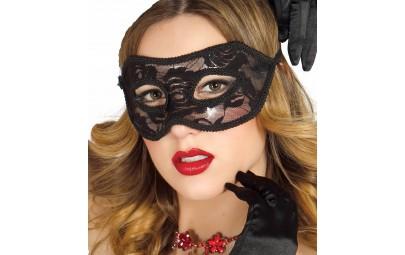 Maska koronkowa czarna
