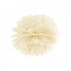 Pompon bibułowy kremowy 35cm