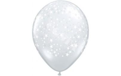 Balon 11 Gwiazdy Clear 20szt