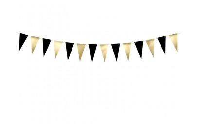Girlanda flagi czarno-złota...