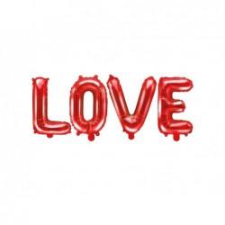 Balon foliowy LOVE czerwony 35x140cm