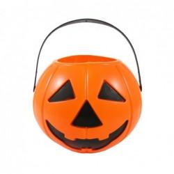 Wiaderko Dynia na cukierki pomarańczowe na halloween