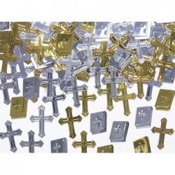 Konfetti metaliczne krzyże 15g