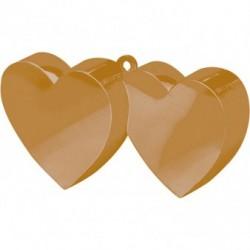 Obciążnik dwa serca złote 150g
