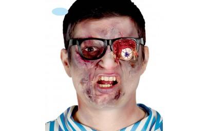 Okulary z wypływającym okiem