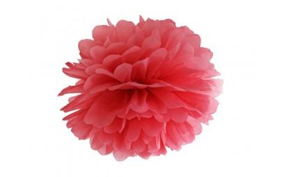Pompon bibułowy czerwony 35cm
