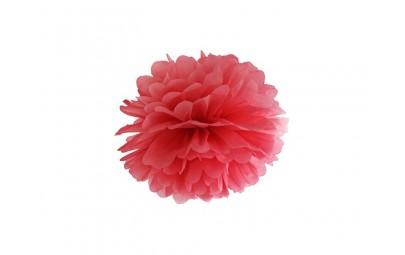 Pompon bibułowy czerwony 25cm