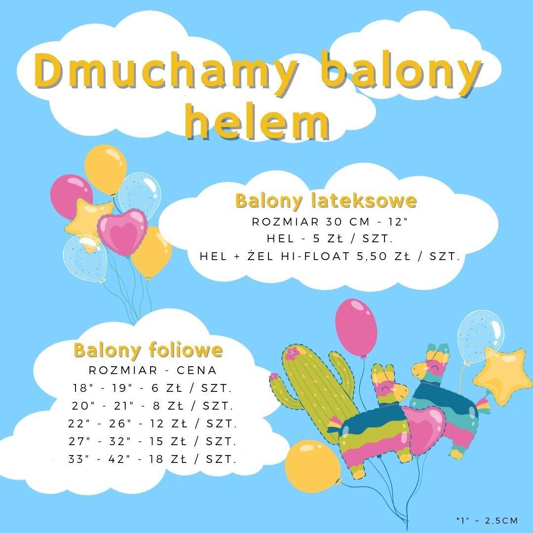 Cennik dmuchania balonów